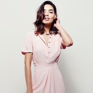 Pink Free People Dream Chaser Mini Dress Size 8